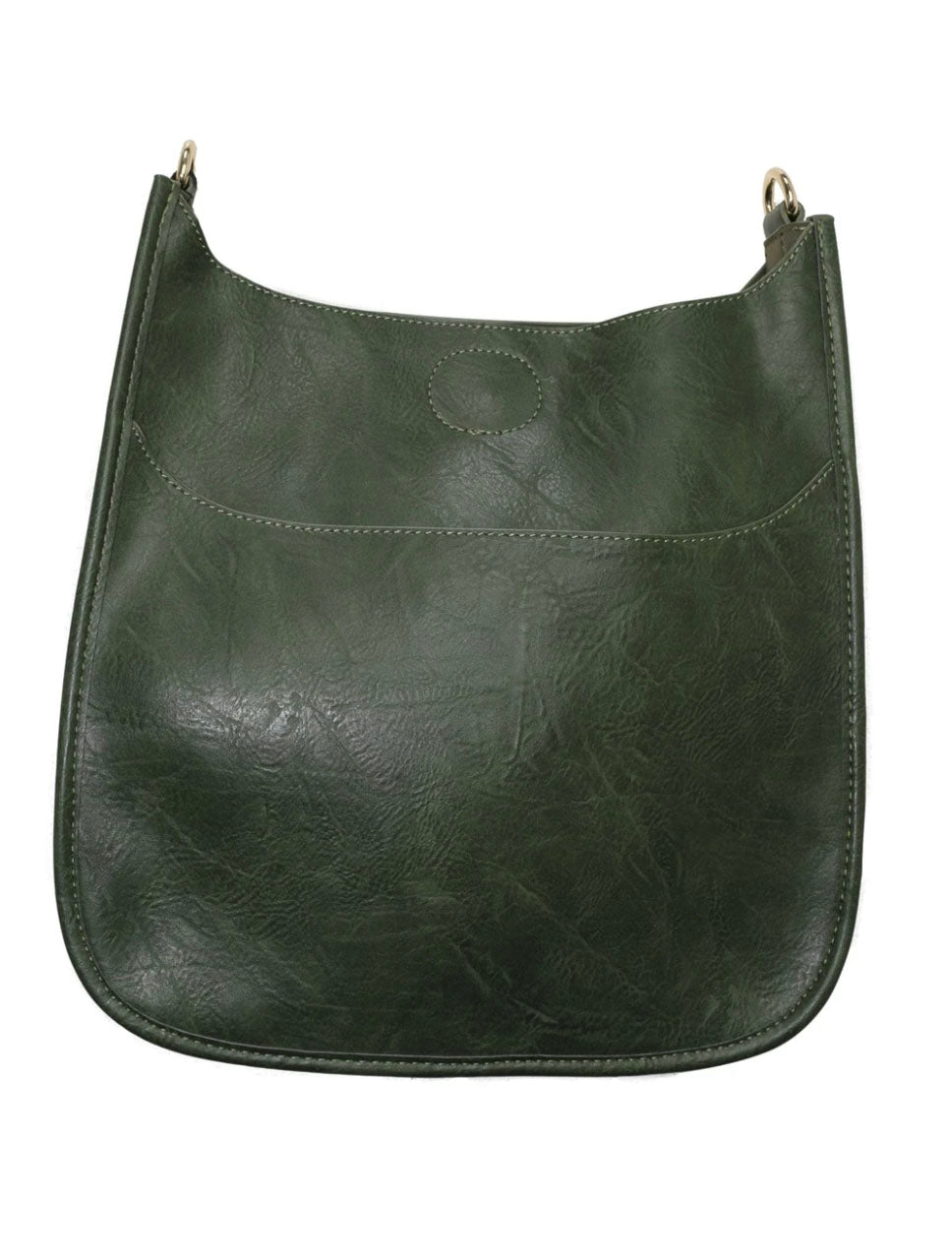 Ahdorned Faux Leather Large Distressed Messenger Bag in Dark Green-No Strap!