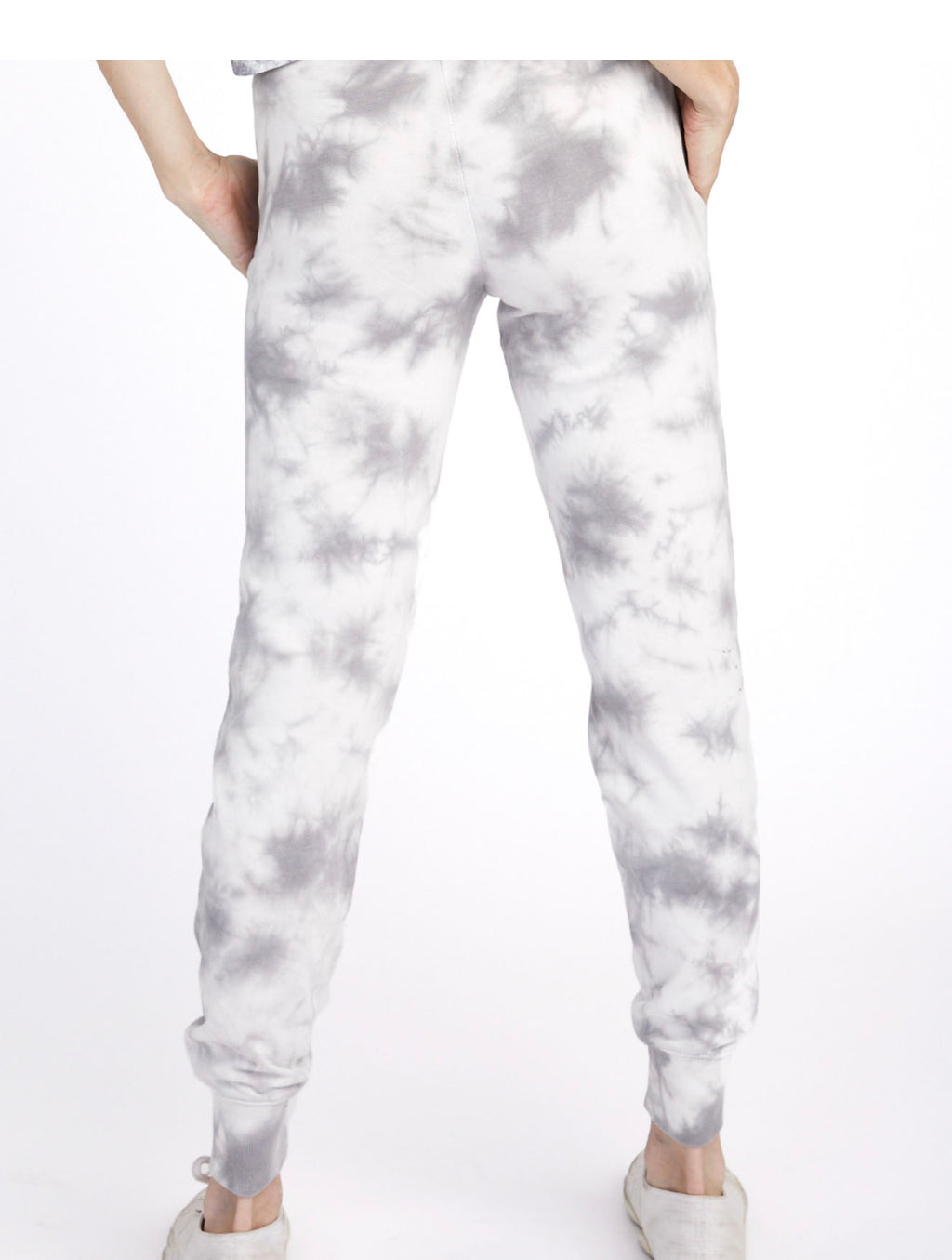 Alternative Apparel Terry Jogger in Grey Tie Dye