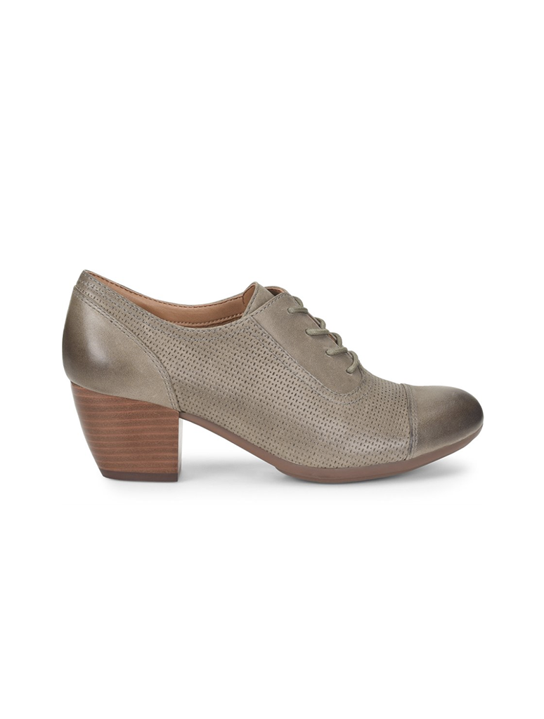 Comfortiva Angelique Oxford Heel in Olive