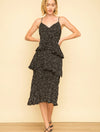 Mystree Tiered Layered Dress in Black