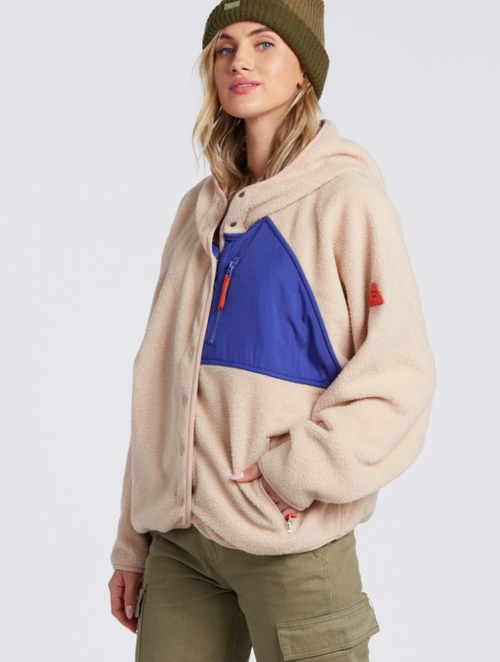 Billabong Tofino Snap Sweater in Moonlight