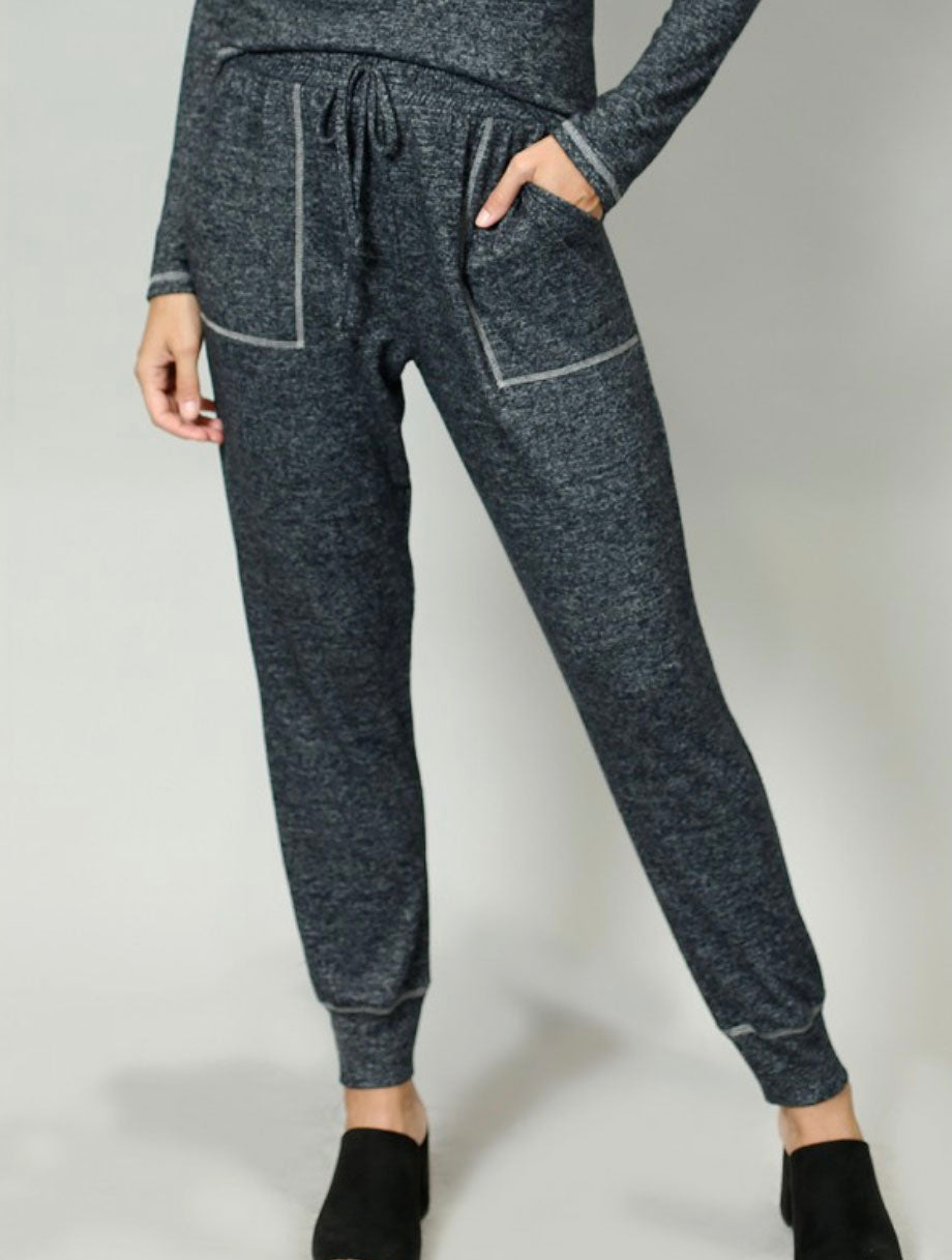 Coin 1804 Contrast Jogger in Charcoal