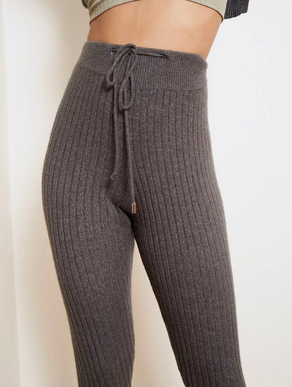 Free People Around The Clock Jogger in Charcoal