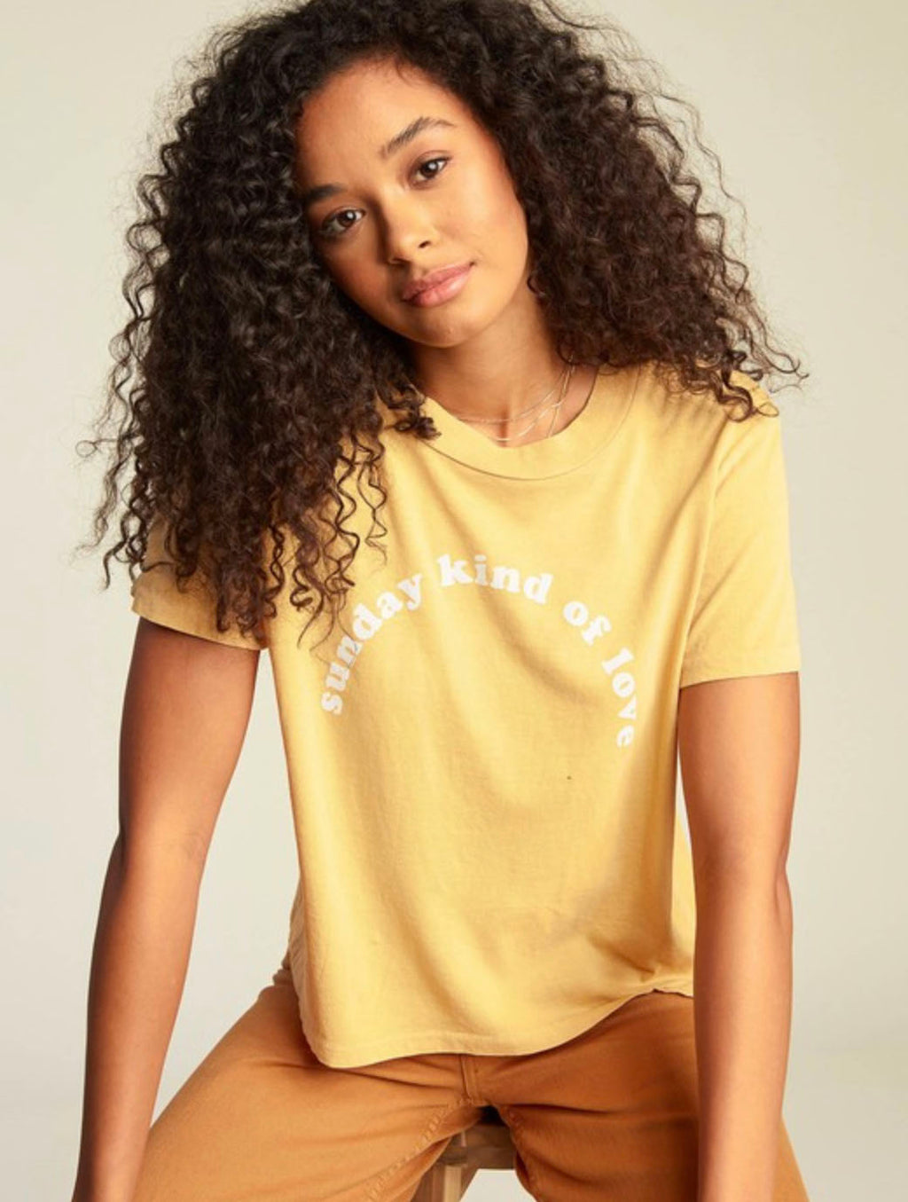 Billabong Sunday Love Tee in Gold Dust