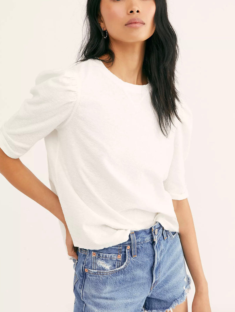 Free People Just A Puff in White
