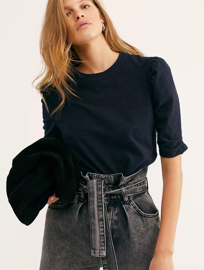 Free People Just A Puff in Black
