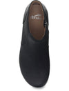 Dansko Barbara Burnished Nubuck Clog Boot in Black