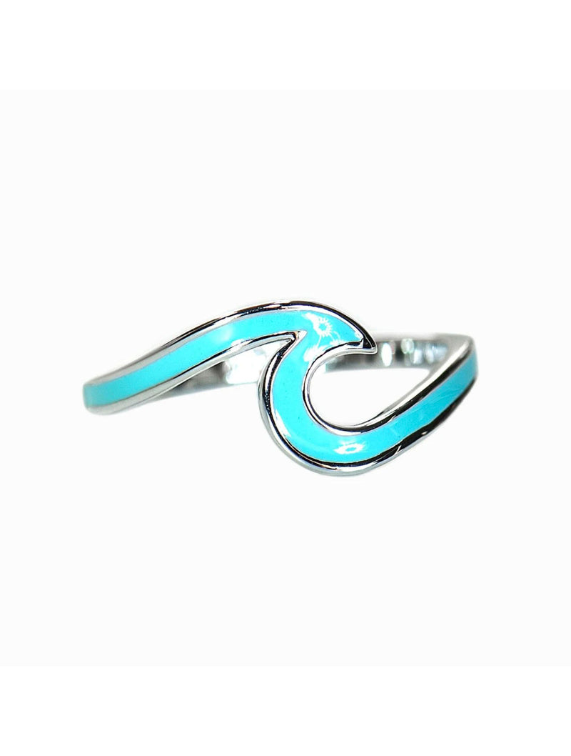 Pura Vida Enamel Wave Ring in Silver
