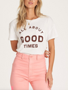 Free People Forever Your Girl Baby Doll Tee in Garnet