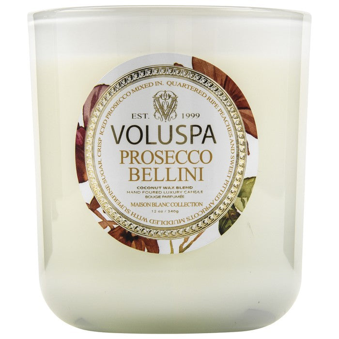 Voluspa Classic Maison Glass Jar Candle in Bellini
