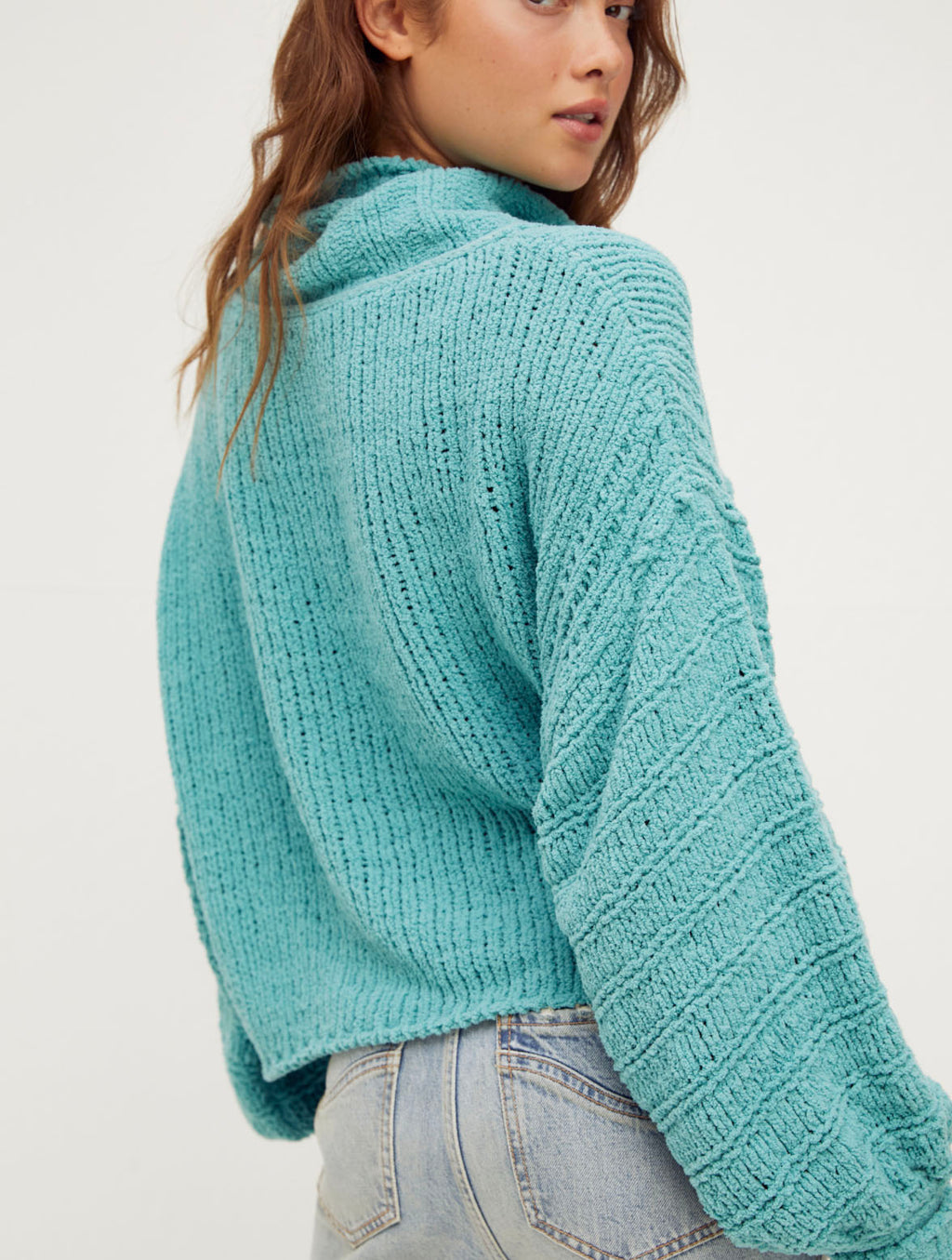 Free People Be Yours Pullover in Emerald
