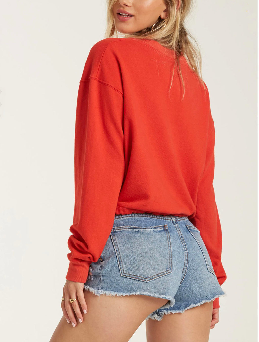 Billabong Faded In Sun Pullover in Rad Red