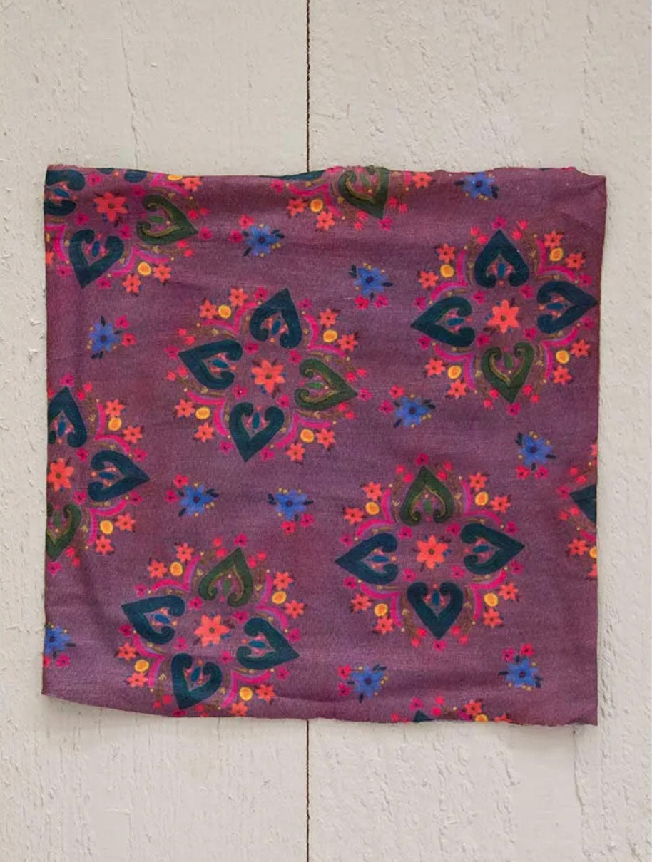 Natural Life 1/2 Boho Bandeau in Floral Plum