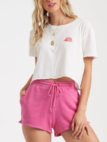 Free People Forever Your Girl Baby Doll Tee in Lilac