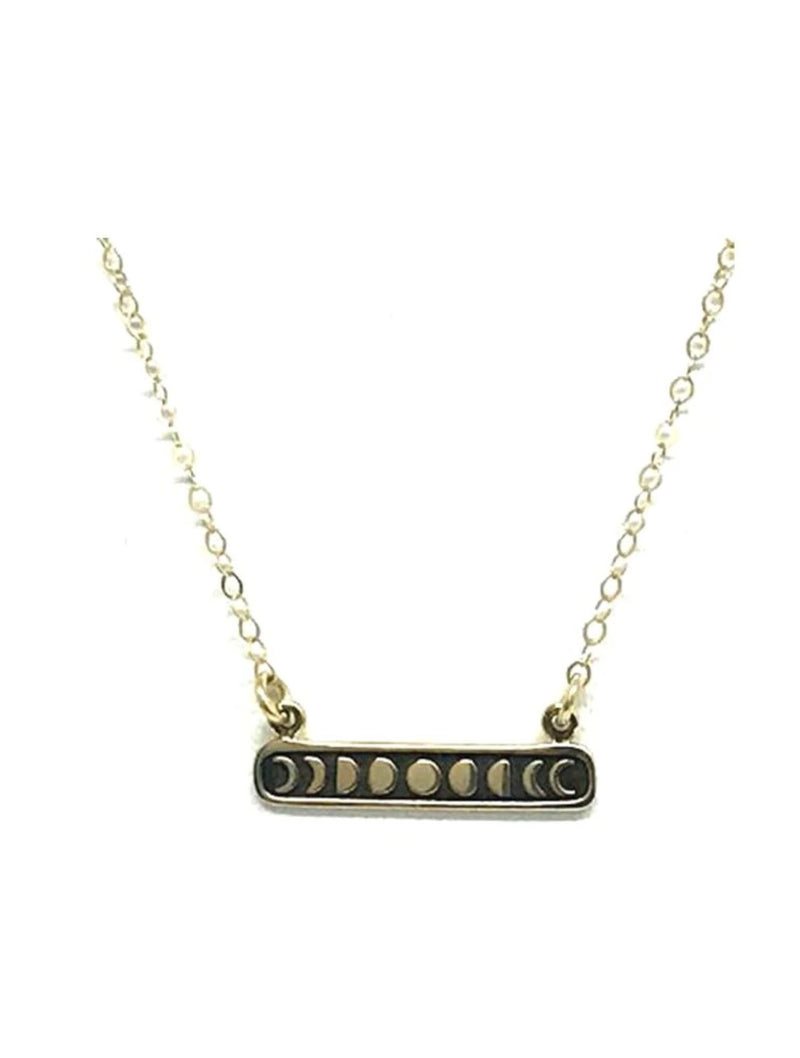 Athena Designs Moon Phase Necklace in Gold