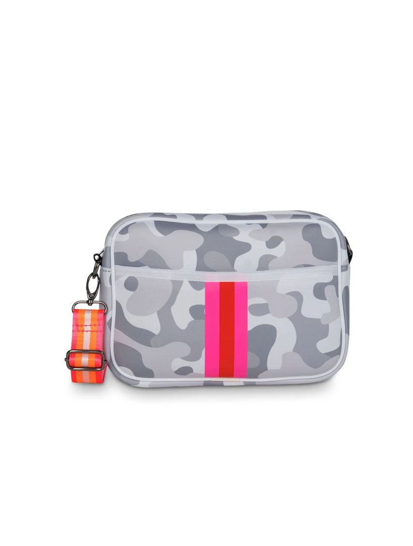 Haute Shore Drew Rise Crossbody in Grey Camo
