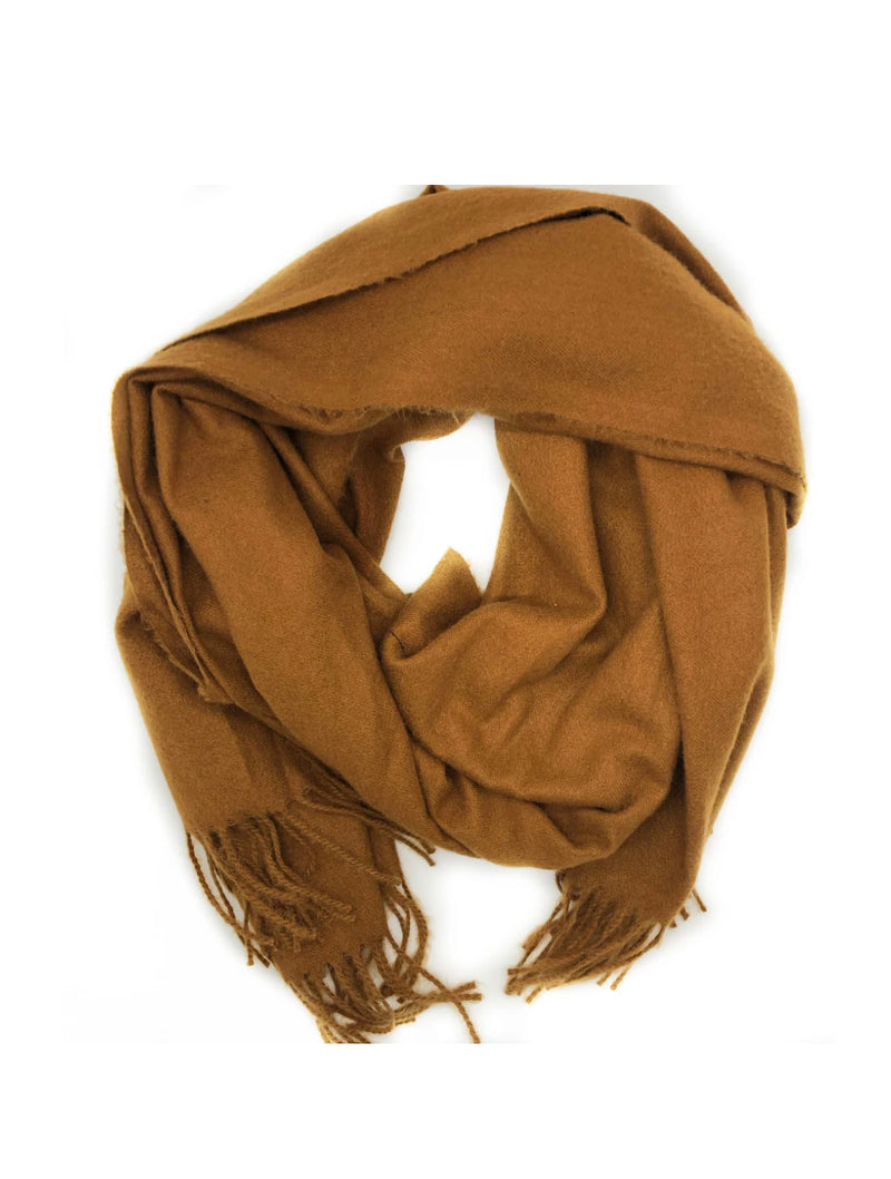 CRC Cashmere Shawl Scarf in Brown