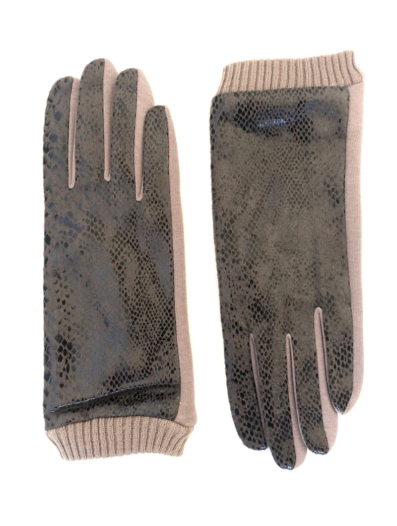 CRC Touchscreen Gloves in Beige Snake