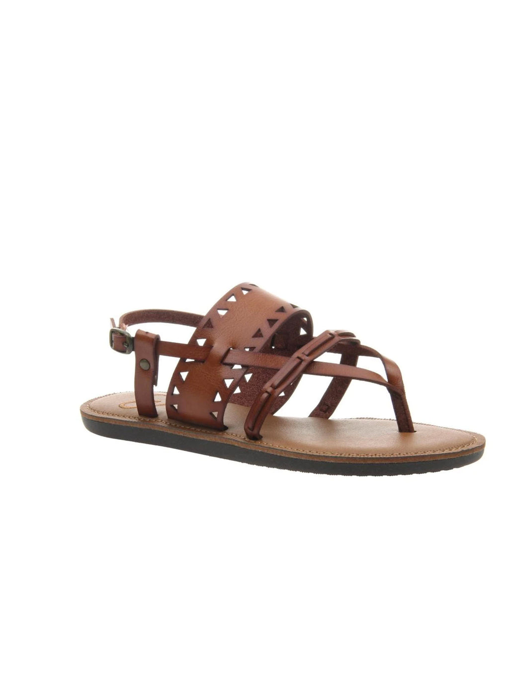 Madeline Girl Bon Bon Flat Sandal in Brown Sugar