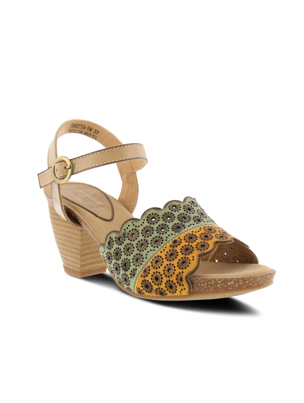 L'Artiste by Spring Step SooziQ Quarter Strap Heel in Yellow