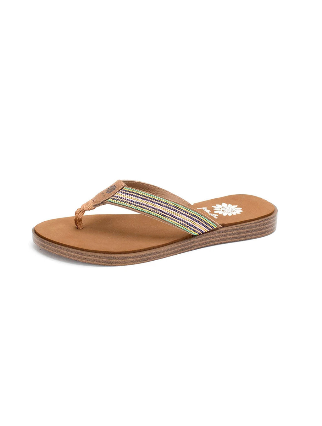 Yellow Box Dainty Sandal in Multi