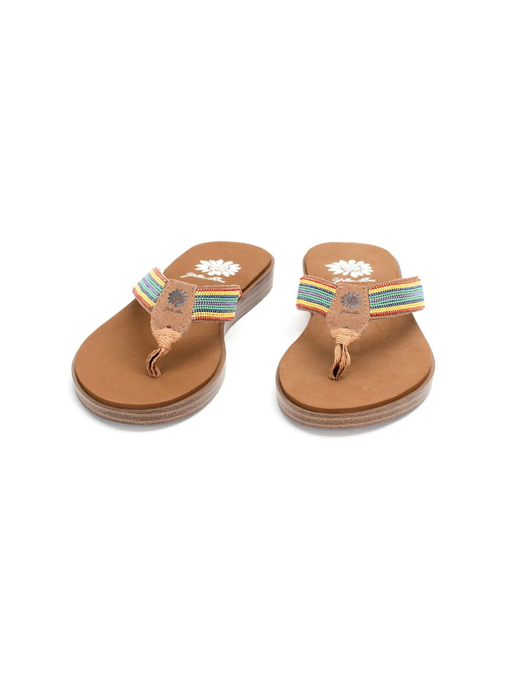 Yellow Box Dainty Sandal in Rainbow