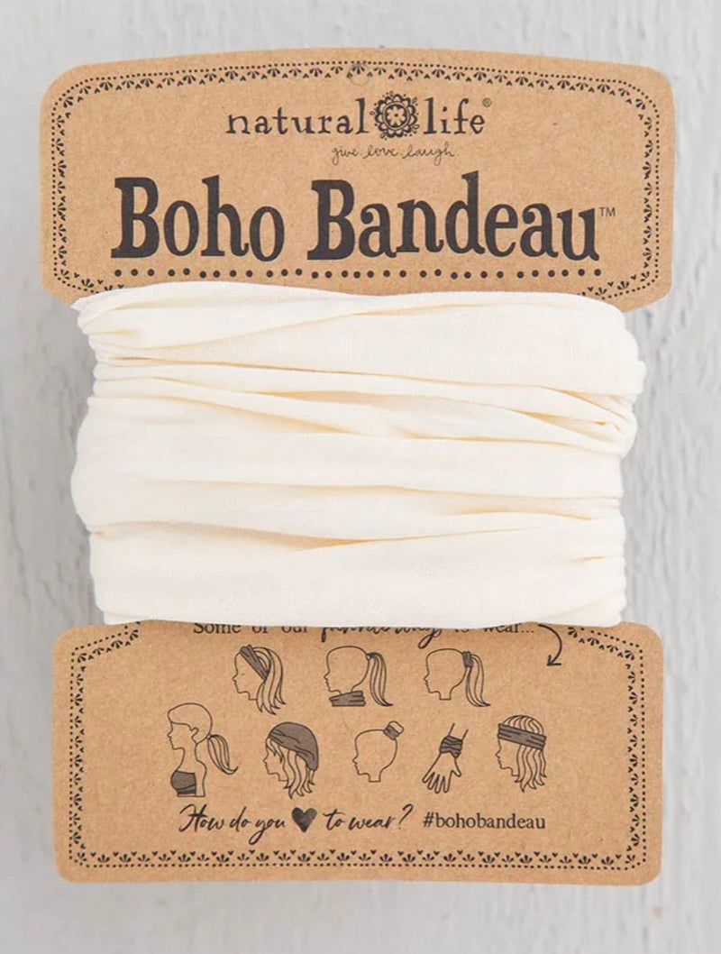 Natural Life Boho Bandeau in Soild Cream