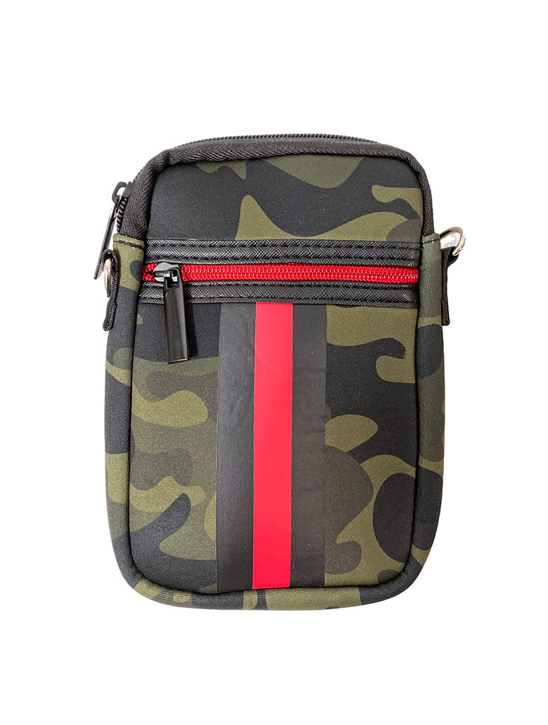 Haute Shore Casey Cell Phone Crossbody in Green Camo