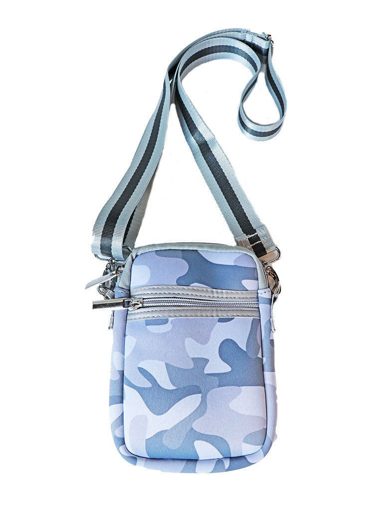 Haute Shore Casey Cell Phone Crossbody in White Camo