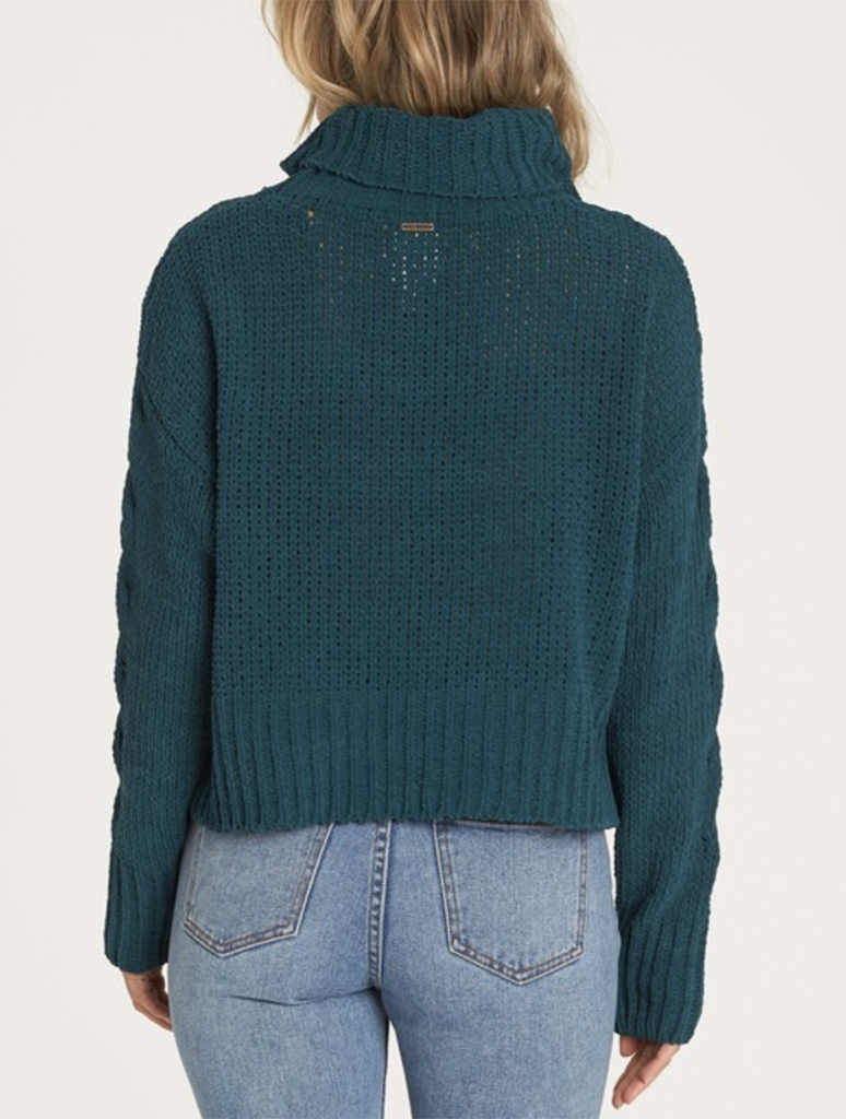 Billabong Cherry Moon Sweater in Jade