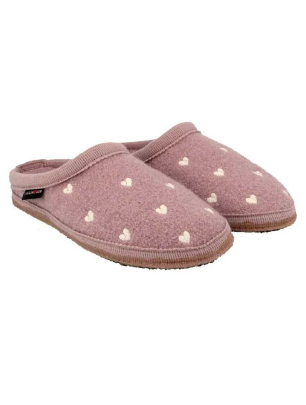 Haflinger Hearts Slipper in Rosewood