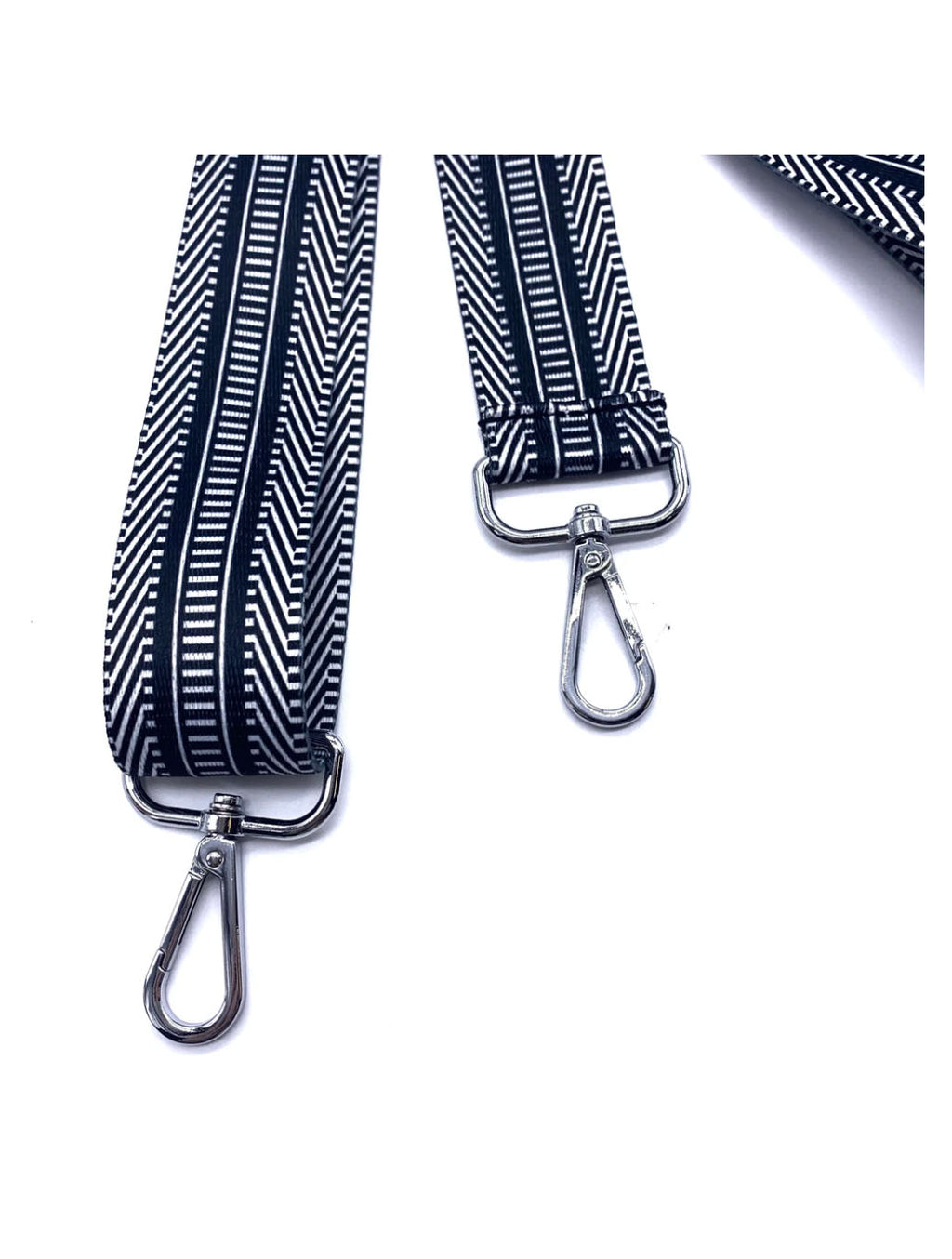 Ribbon Bag Strap in Black/Navy