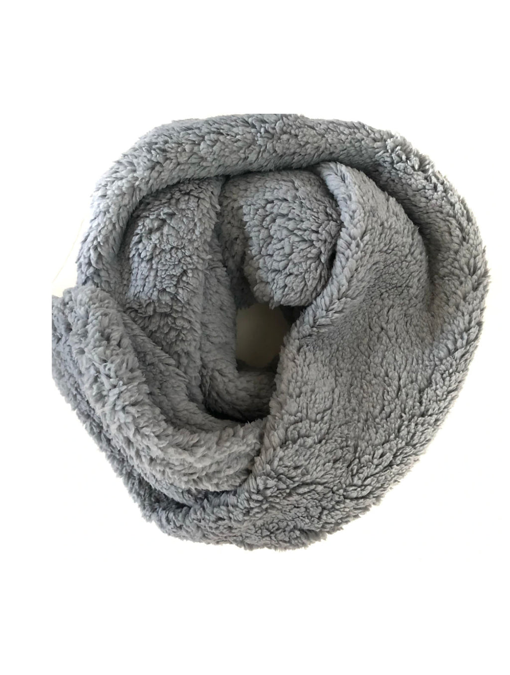Teddy Bear Scarf in Grey
