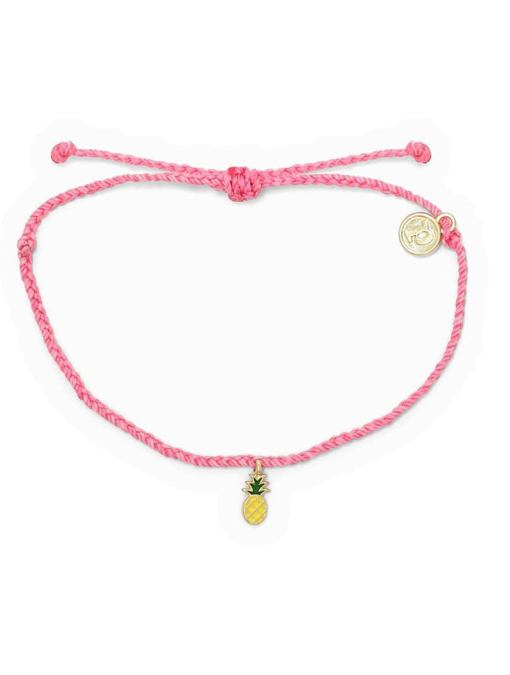 Pura Vida Pineapple Bracelet in Pink