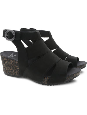 Dansko Sera Wedge Sandal in Black