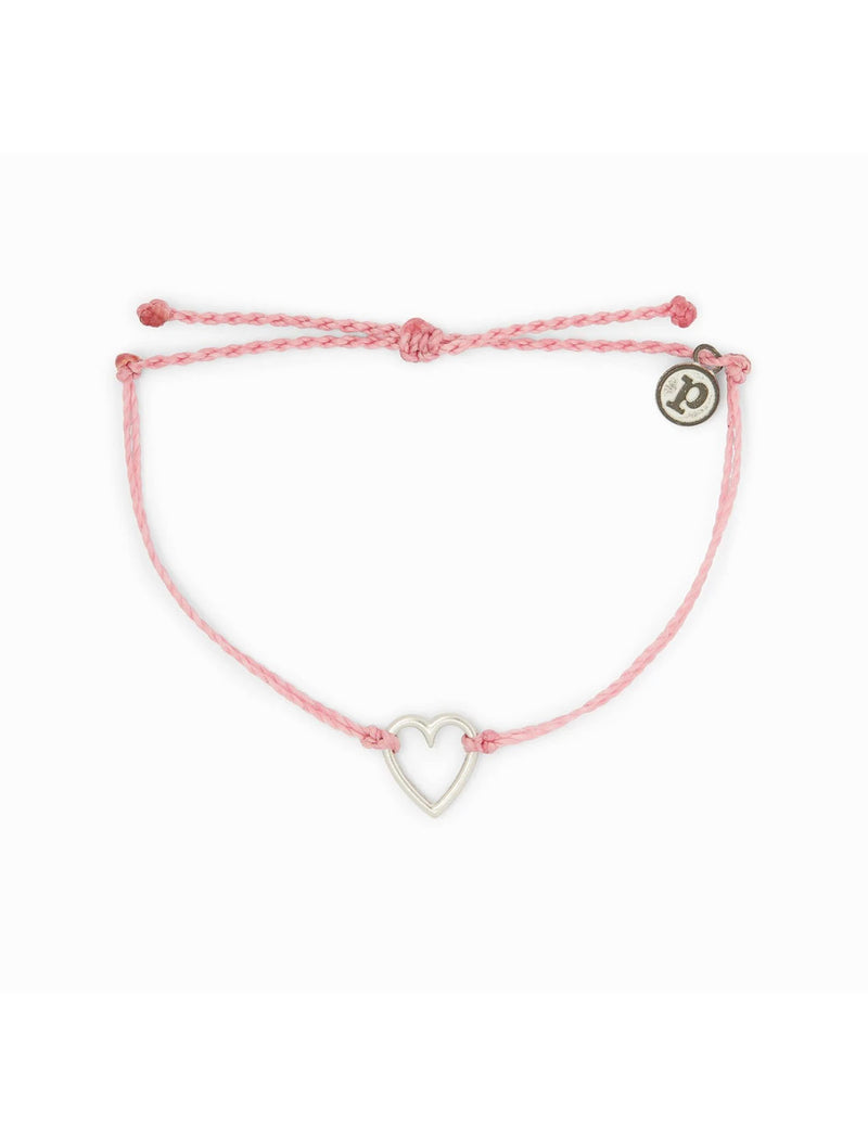 Pura Vida Open Heart Bracelet in Pink