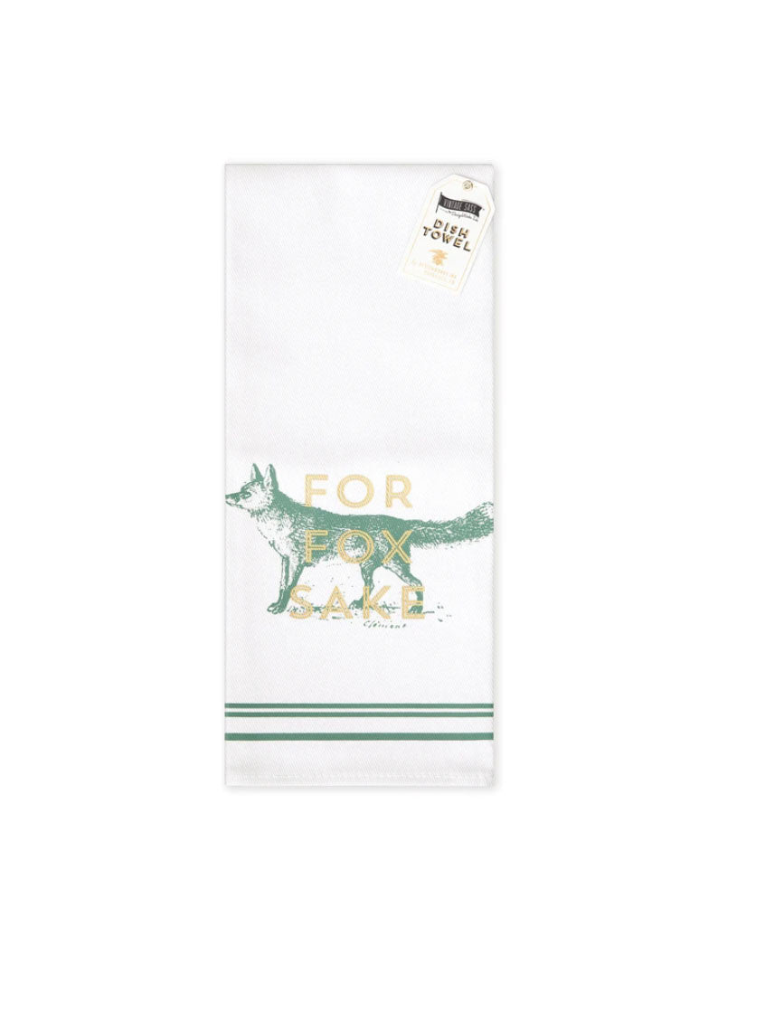 Design Works Ink Fox Dishtowel