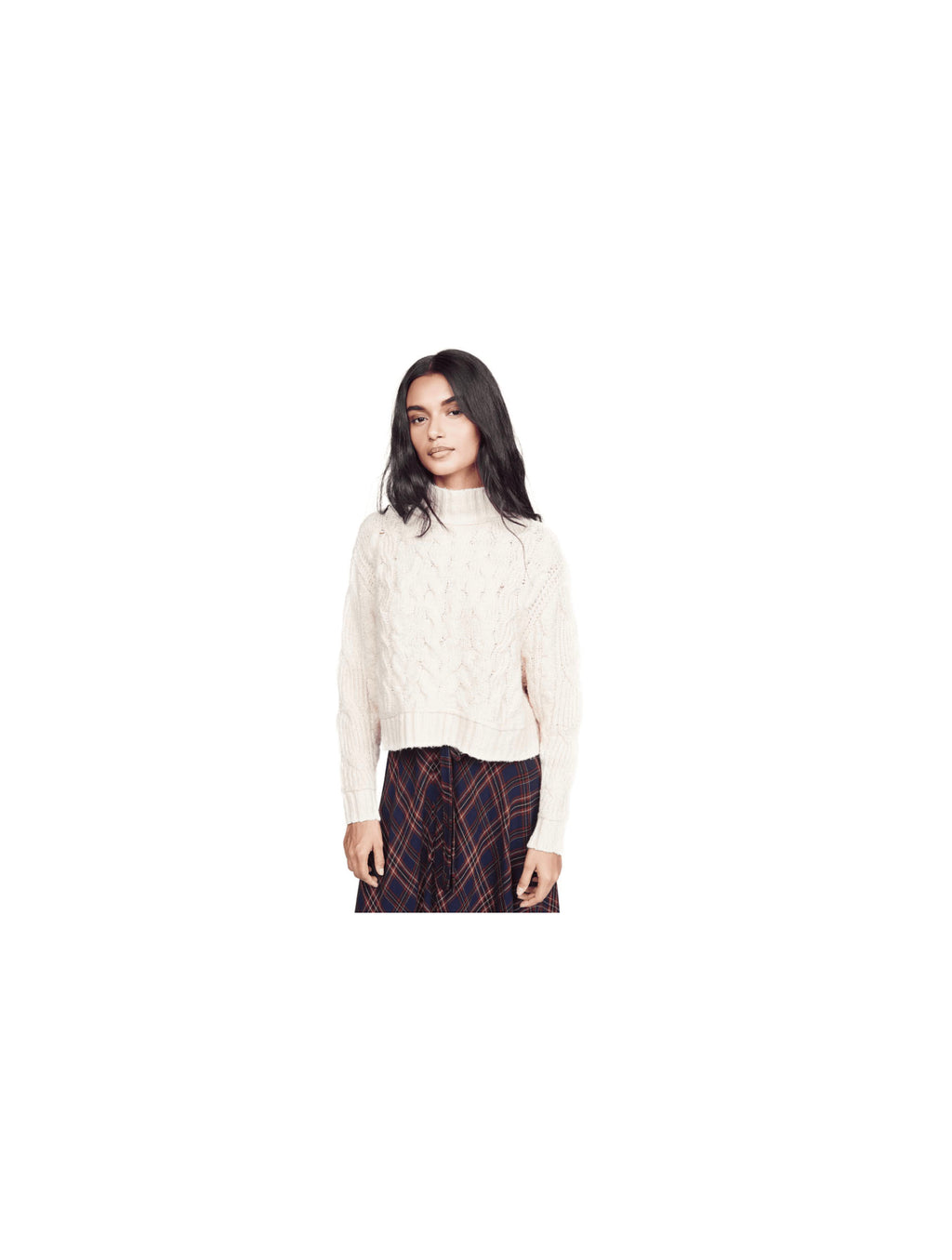 Free People Merry Go Round Sweater in Ivory