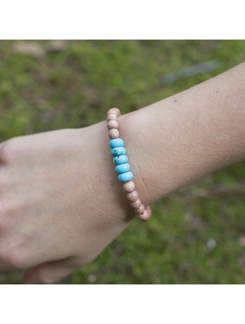 "SoulKu Jewelry Howlite ""Be Calm"" Bracelet in White"