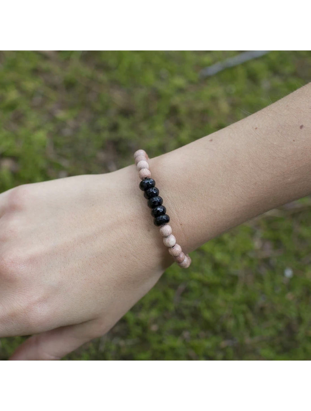"SoulKu Jewelry Black Onyx ""Be Strong"" Bracelet"
