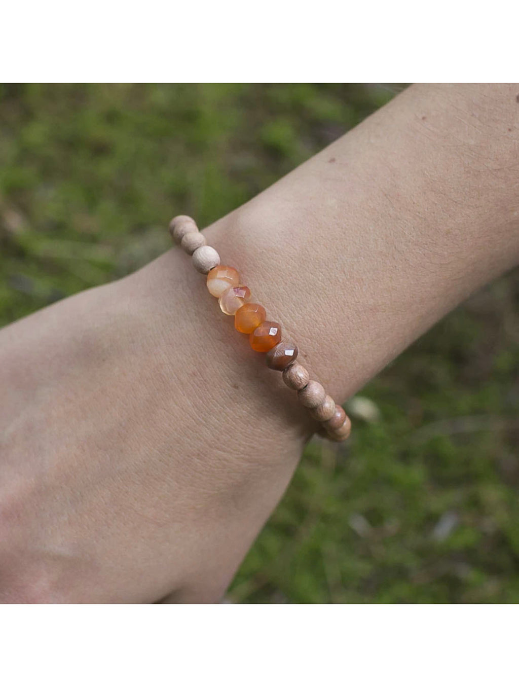 "SoulKu Jewelry Carnelian ""Be Happy"" Bracelet"