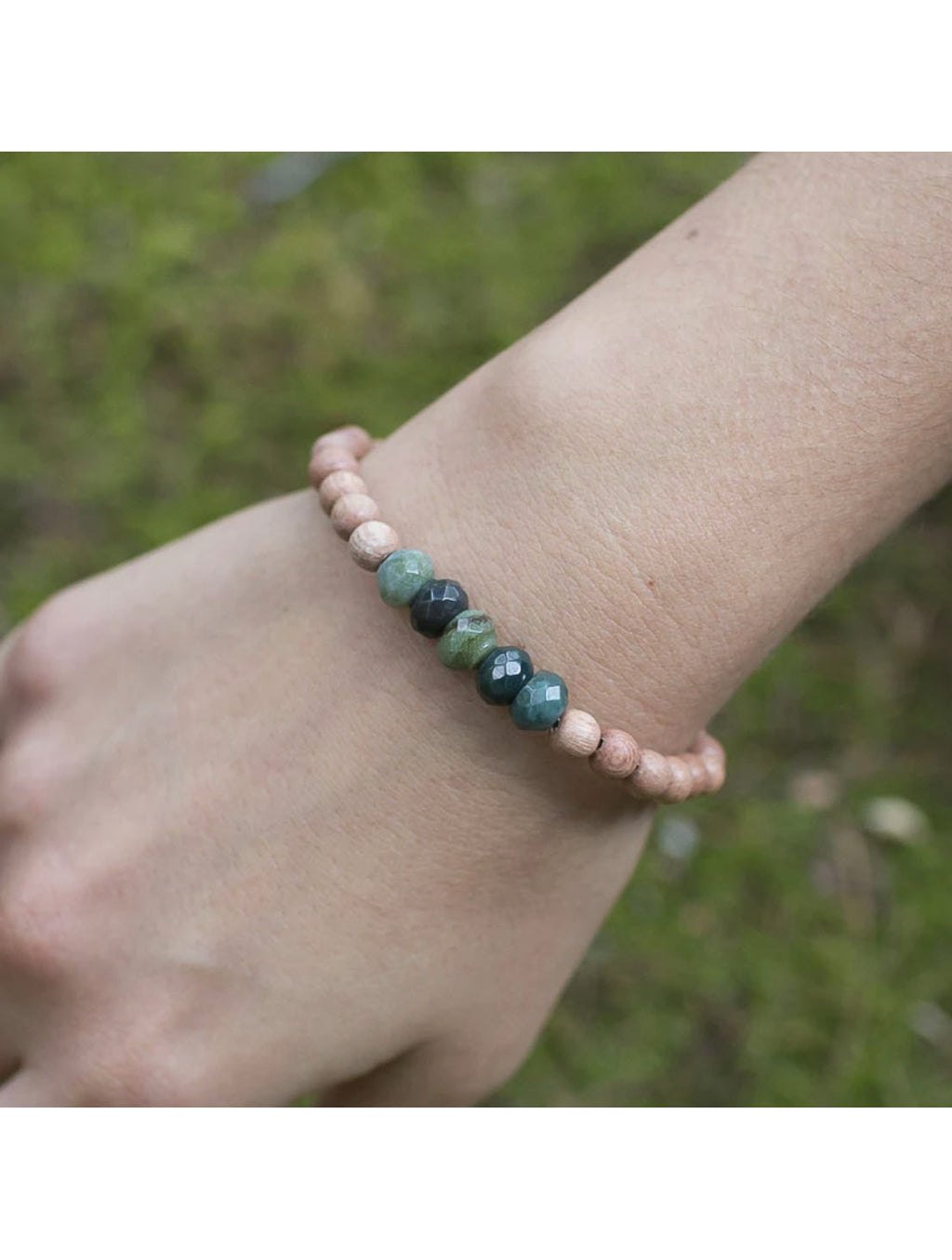 "SoulKu Jewelry Fancy Jasper ""Be Peace"" Bracelet"