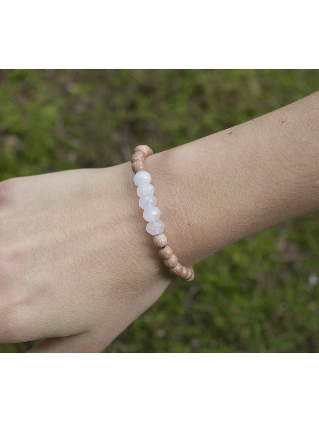"SoulKu Jewelry Rose Quartz ""Be Love"" Bracelet"
