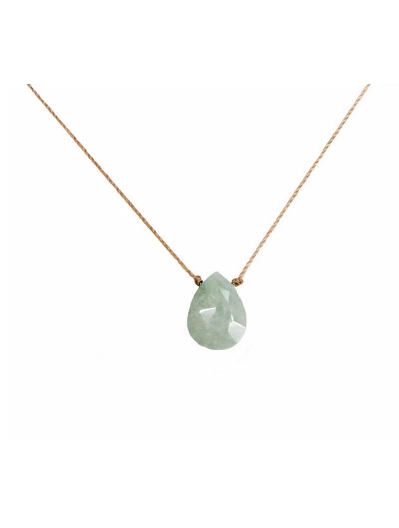 "SoulKu Jewelry Luxe ""Beautiful Mom"" Necklace in Milky Aqua"
