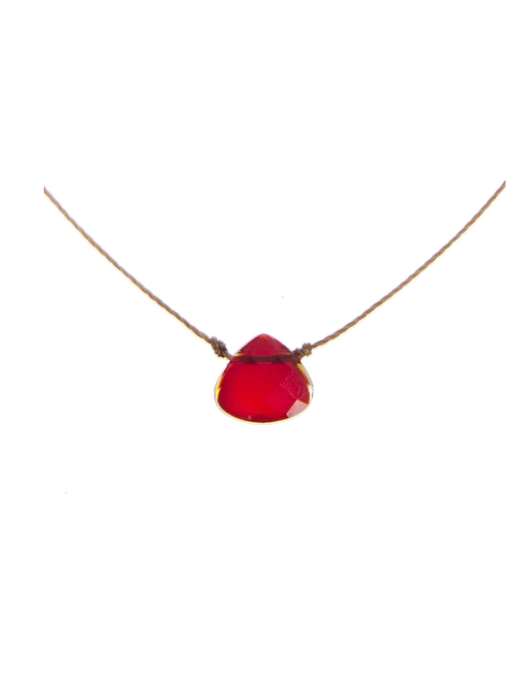 "SoulKu Jewelry Soul Shine ""Strength"" Necklace in Crimson Red"