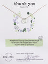 "SoulKu Jewelry Soul-Full of Light ""Thank You"" Necklace in Fluorite"