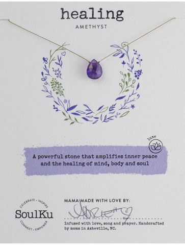 "SoulKu Jewelry Luxe ""Self Love"" Necklace in Rhodonite"