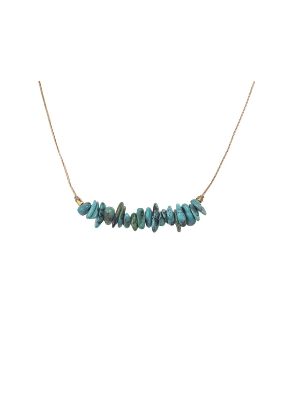 "SoulKu Jewelry Seed ""Friendship"" Necklace in Turquoise"