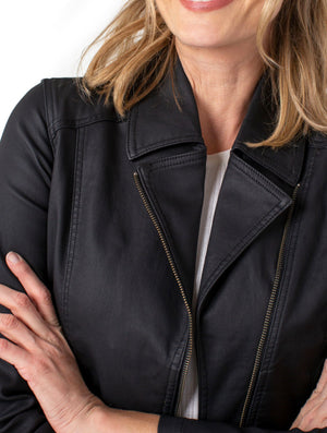 Liver Pool Moto Jacket in Black