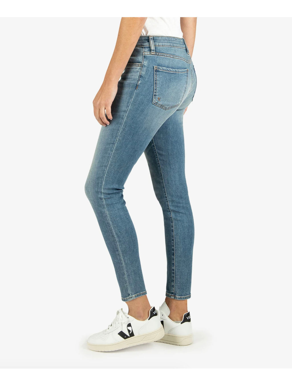 Kut from the Kloth Donna High Rise Ankle Skinny in Chances Wash